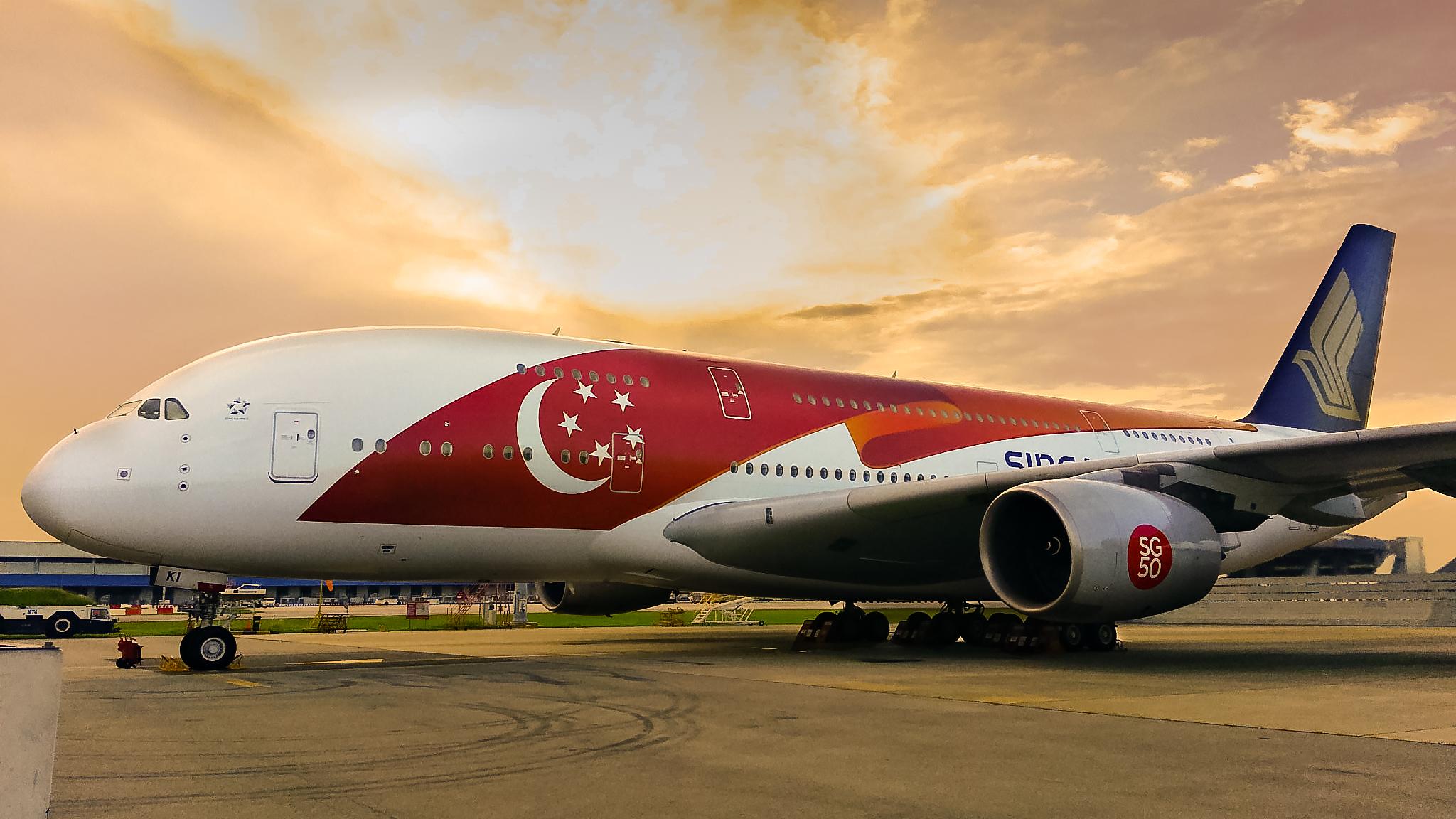 Singapore Flugzeug 50 BDAY