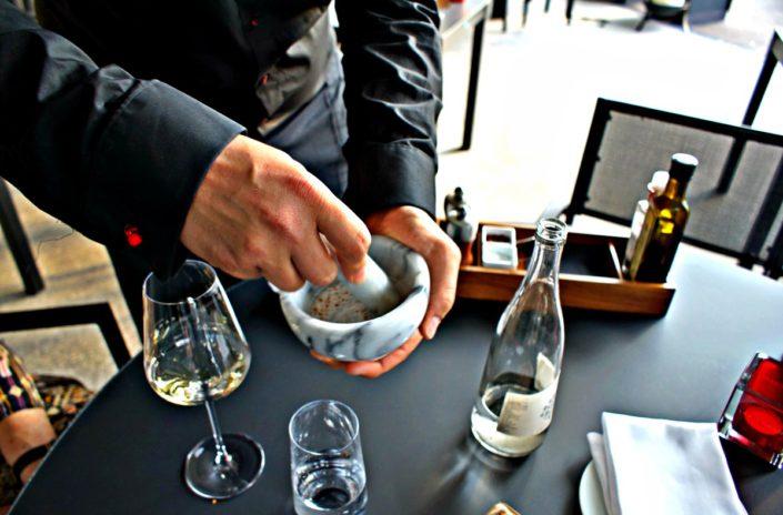 Kameha Grand Zürich Appetizer am Tisch