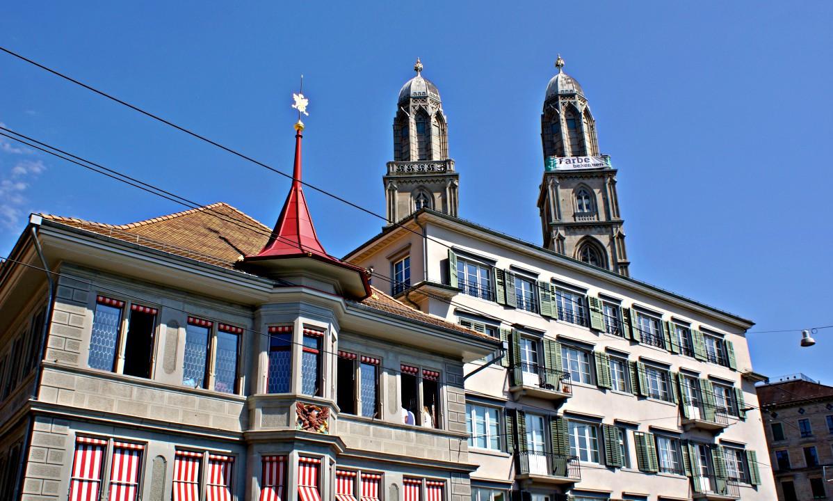 Beitrag Zürich Blick auf den Grossmünster
