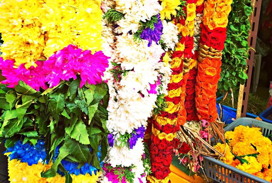 Blumengirlanden Little India