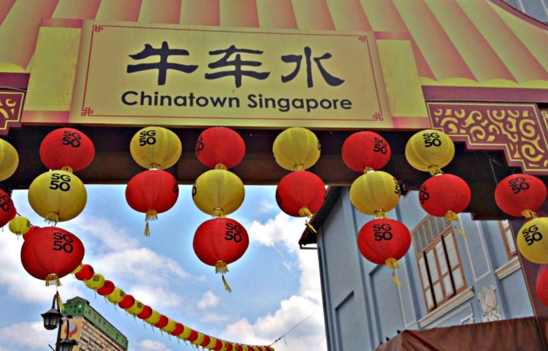 Chinatown Singapur 50. Geburtstag