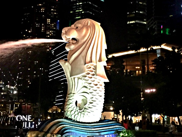 Merlion an der Marina Bay