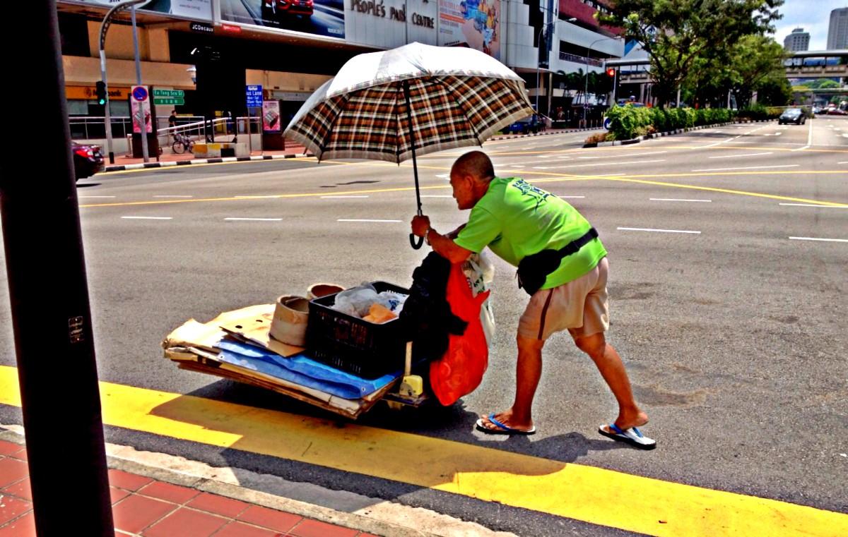 Sonnenflüchter in Singapur