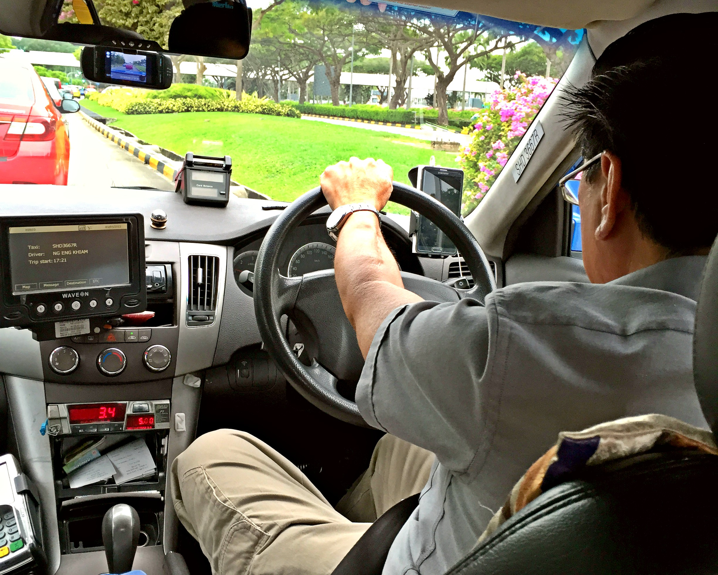 Taxi Driver in Singapur
