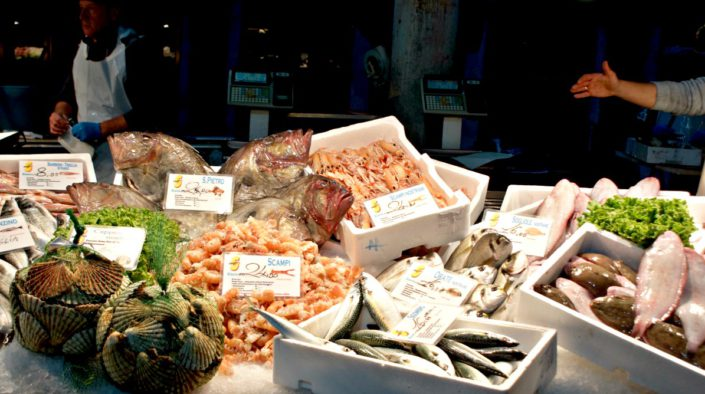 Fischmarkt in der Lagunenstadt