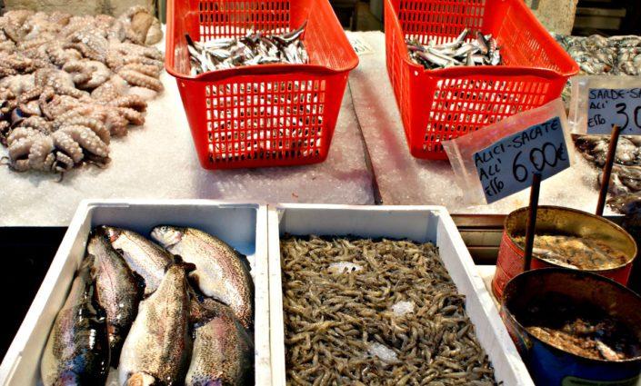 Sortierung auf dem Fischmarkt
