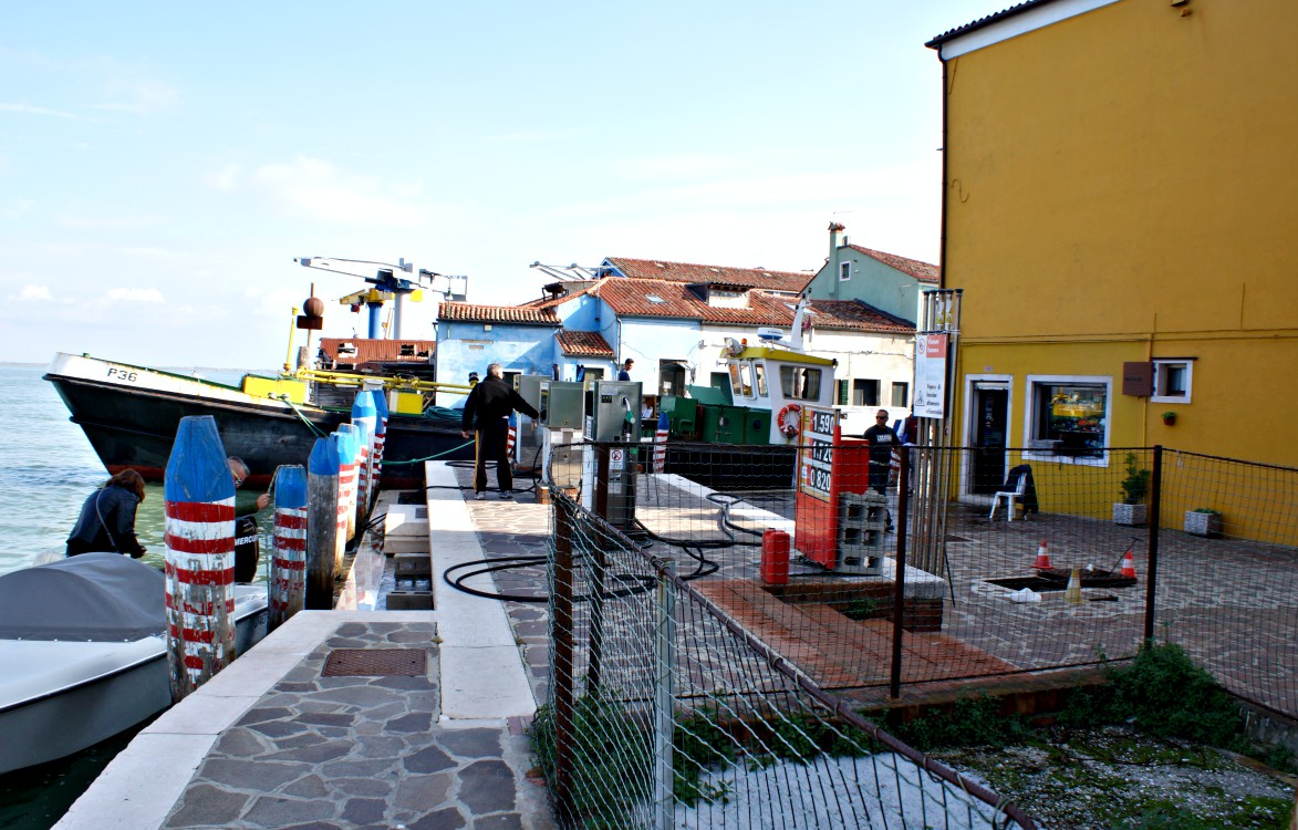 Wassertankstelle in Burano