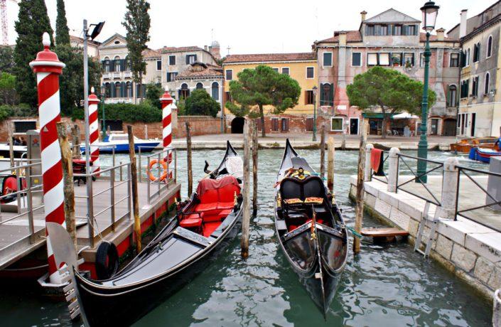 Gondelparkplatz in Venedig