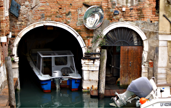 Privatgarage in Venedig