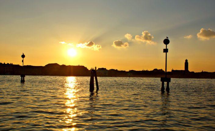 Sundown auf der Bootsfahrt