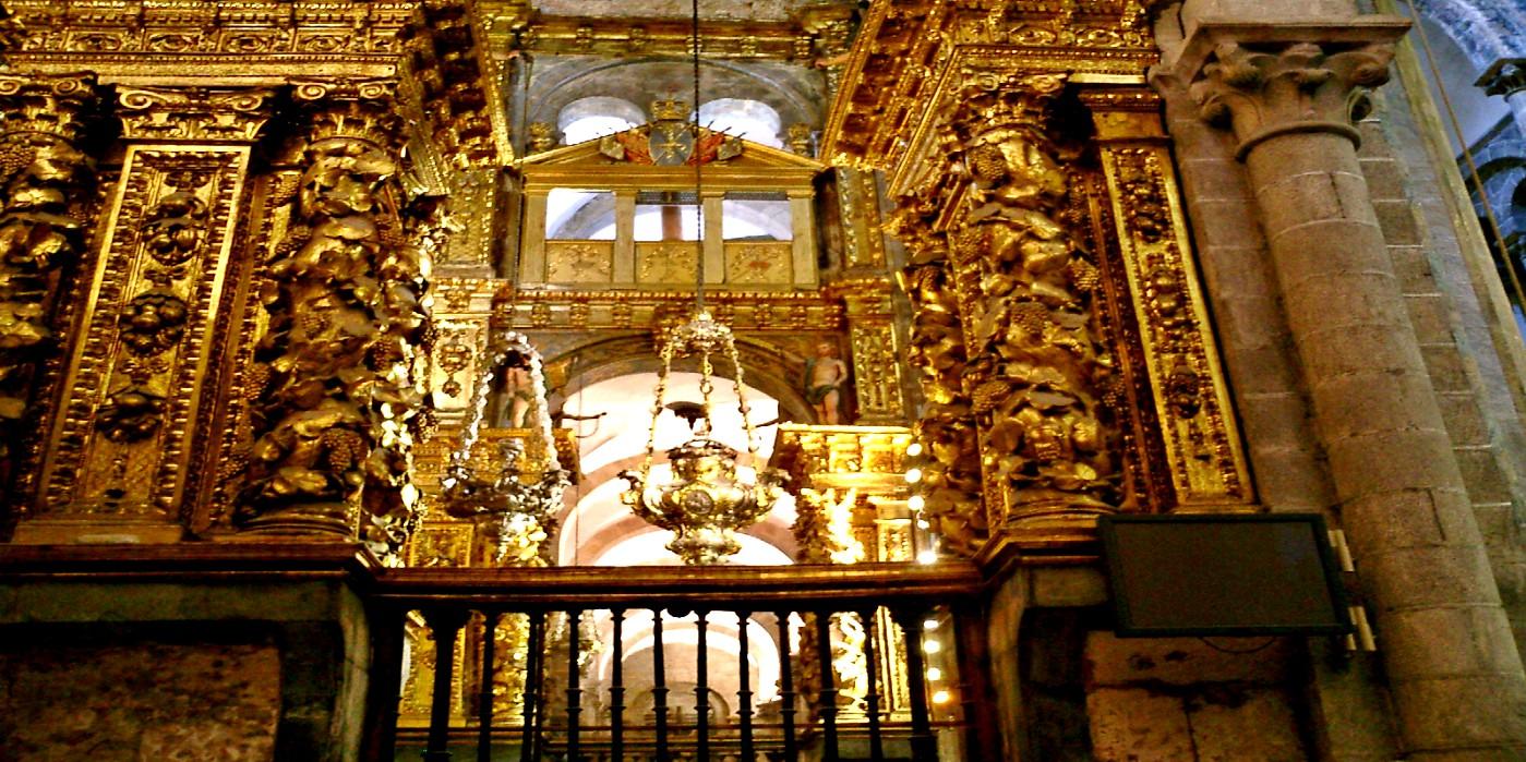 Botafumeiro Weihrauchfass in der Kathedrale