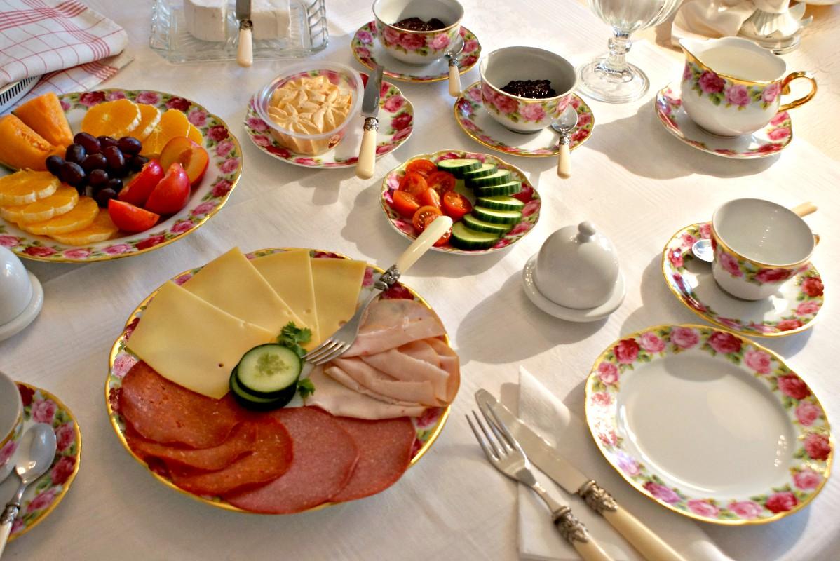 Frühstückstisch bei Airbnb bei Barbara