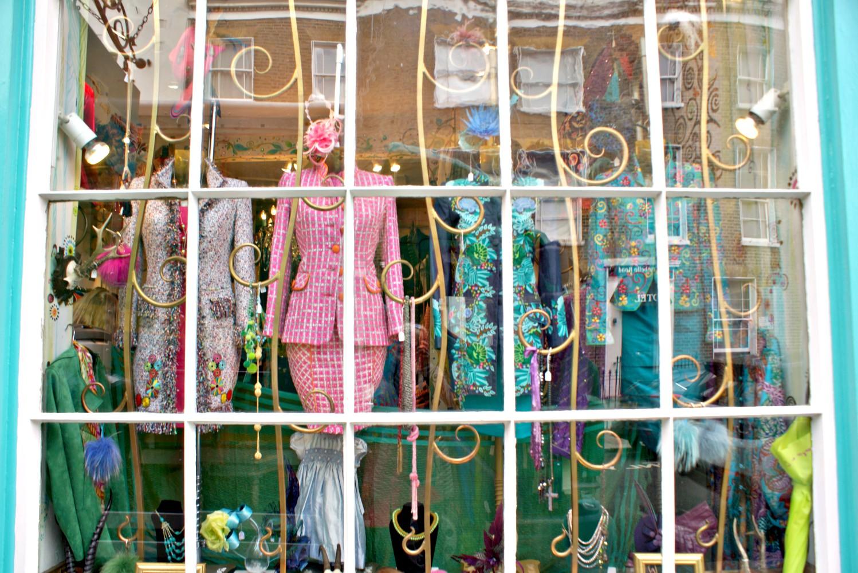 Schaufenster in Portobello